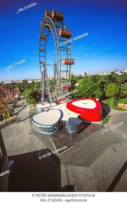 """Giant Ferry Wheel (""""""""Riesenrad""""""""), Prater Vienna, Austria, Vienna"""