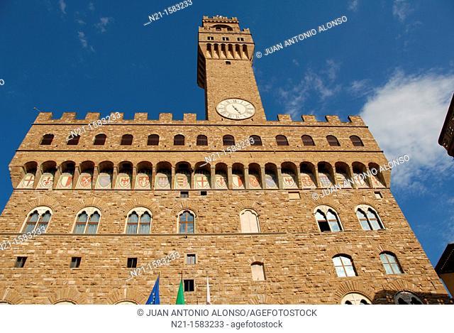 Palazzo Vecchio,  Piazza della Signoria, Florence, Tuscany, Italy, Europe