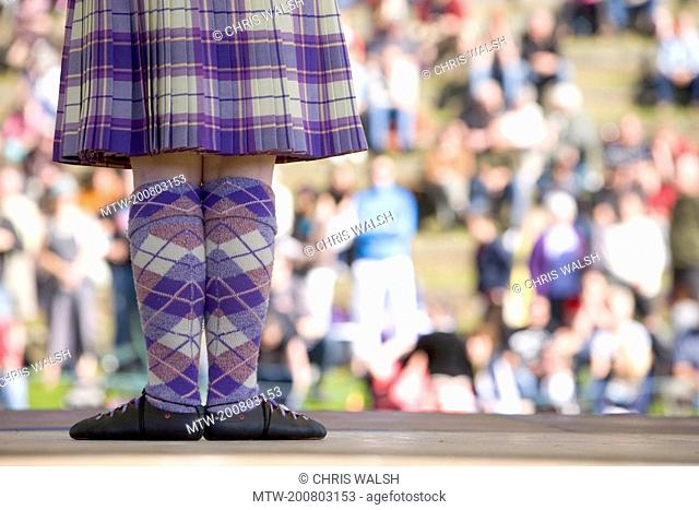 Highland dancing tartan girl kilt dancer Pitlochry