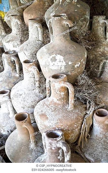 Ancient amphoras in Bodrum Castle