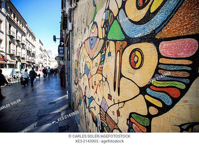 Graffiti near Plaza Mayor, Salamanca, Castile-Leon, Spain