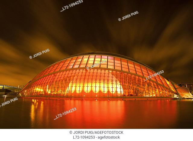Hemisferic, City of Arts and Sciences, Valencia, Comunidad Valenciana, Spain
