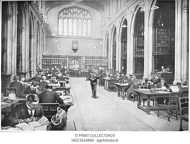 Reading room, Guildhall Library, City of London, c1903 (1903). Artist: Unknown