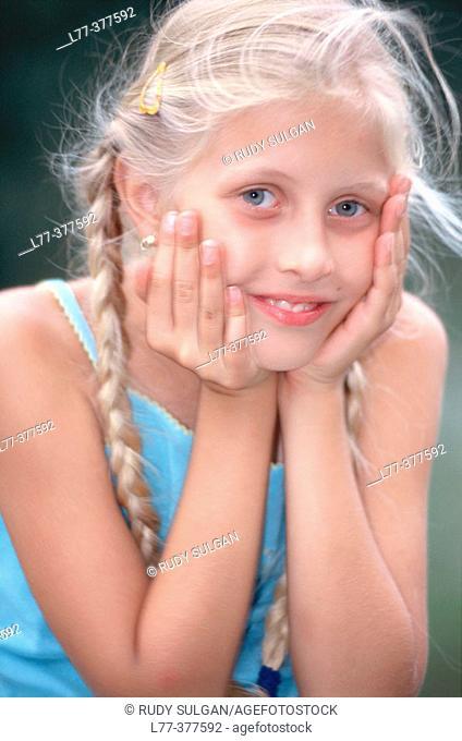 Portrait of little girl smiling