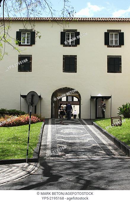 Entrance to Palacio de Sao Lourenco Funchal Madeira