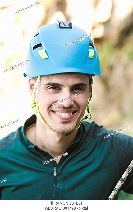 Portrait of a smiling climber