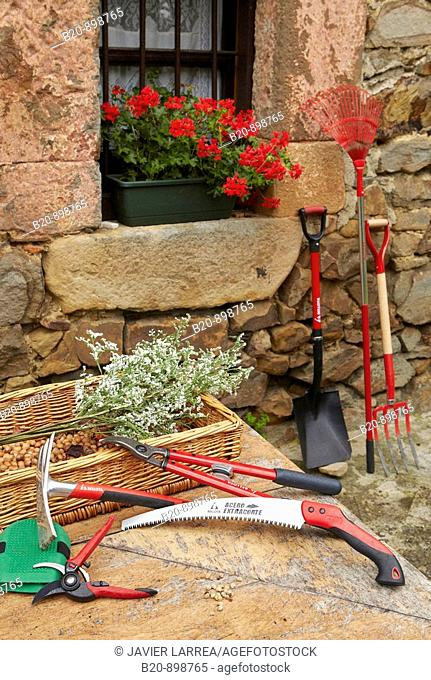 Hand tools, gardening and farming, Guipuzcoa, Basque Country, Spain
