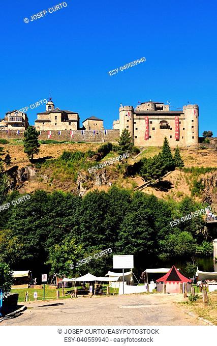 view of Puebla de Sanabria, Zamora province, Castilla-Leon, Spain