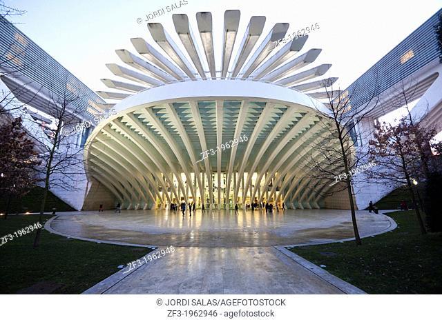 Conference and Exhibition Centre of Oviedo, built by Santiago Calatrava