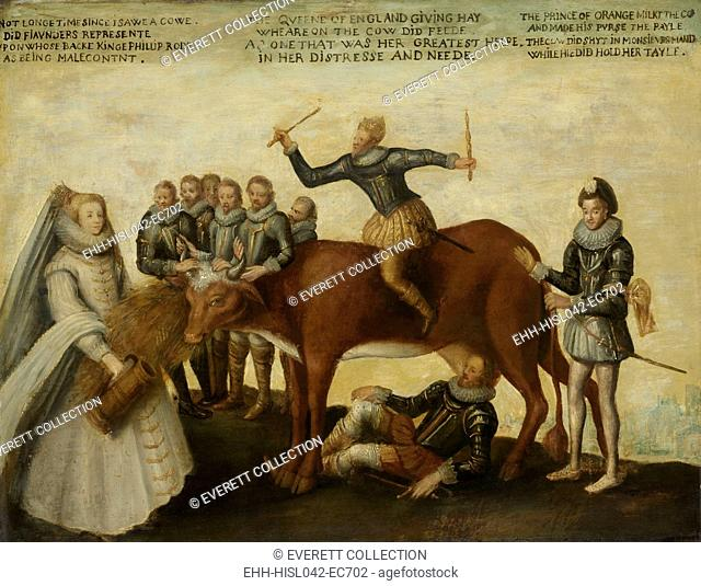 The Dairy Cow: The Dutch Provinces, Revolting against the Spanish King Philip II, Are Led by Prince William of Orange, The States General Entreat Queen...