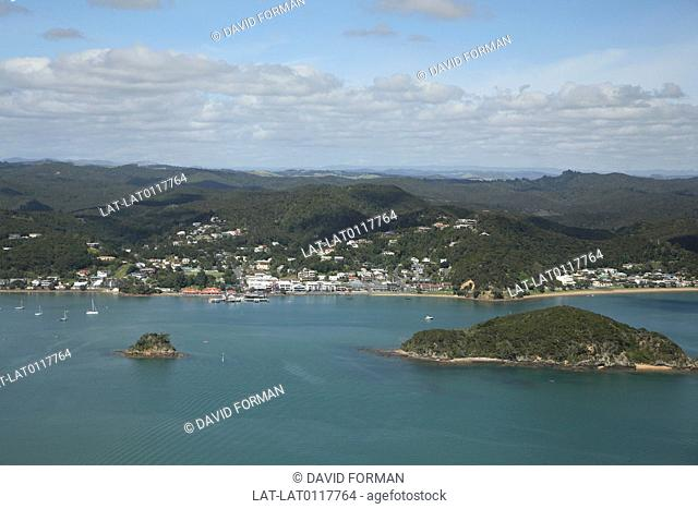 The Bay of Islands is a bay on the coast in Northland. It is a irregular inlet which is about 16 km wide,and serves as a natural harbour