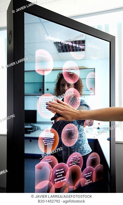 Interactive mirror that allows the person standing in front of it to see a simulated view of how the clothes they wish to buy would look when they wear them...