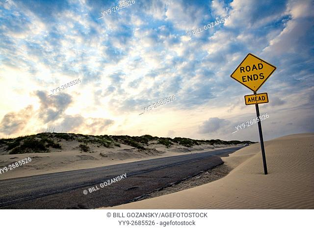 End of the Road - South Padre Island's Park Road 100 - Texas, USA