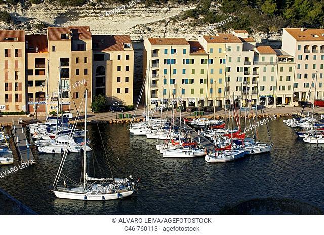 Harbour, Bonifacio. Corsica Island, France