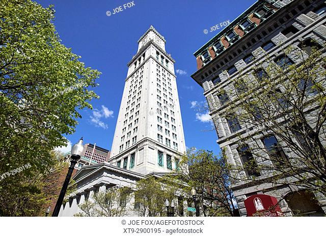custom house tower building Boston USA