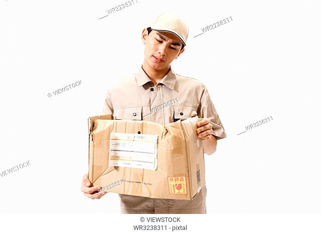Young Courier at work