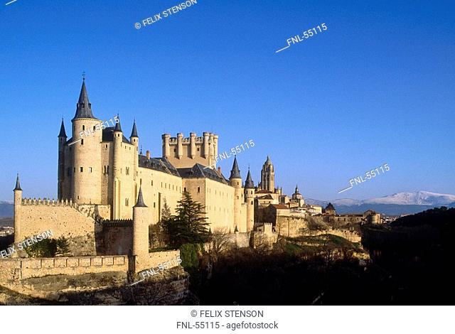 Castle on hill, Alcazar, Segovia, Spain