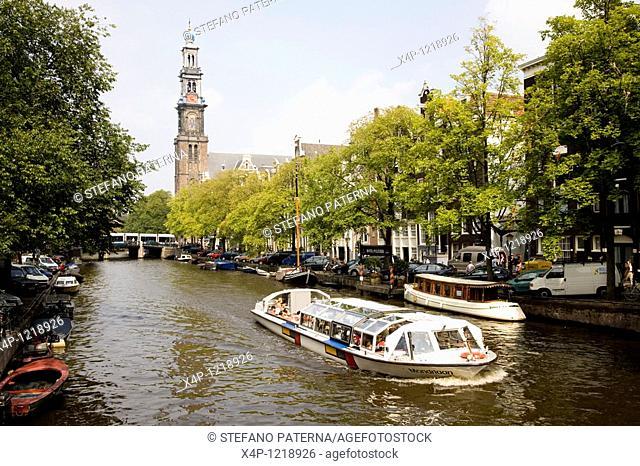 Westerkerk designed by Hendrick de Keyser 1565–1621 and during 1620–1631 built, Amsterdam, Netherlands