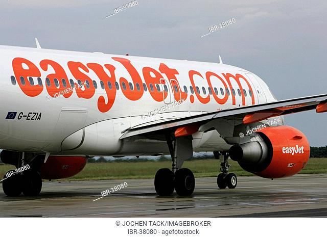 DEU, Germany, Berlin : Airport Berlin-Schoenefeld. Boeing 737 of british easyjet company