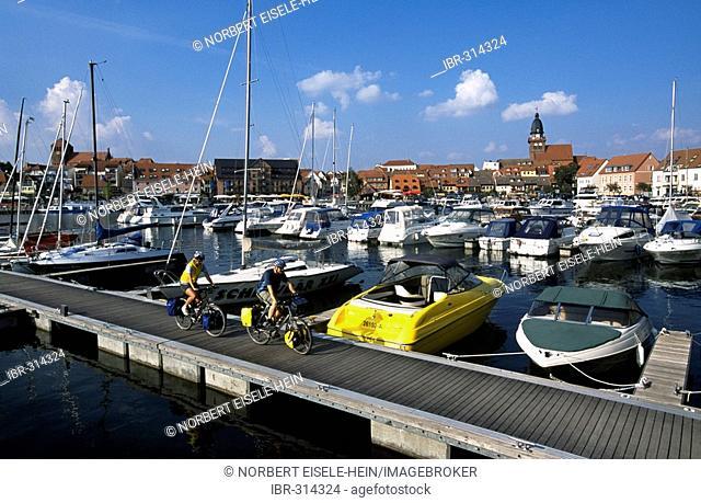 Bikers, port, Waren an der Mueritz, Mecklenburg-Vorpommern, Germany