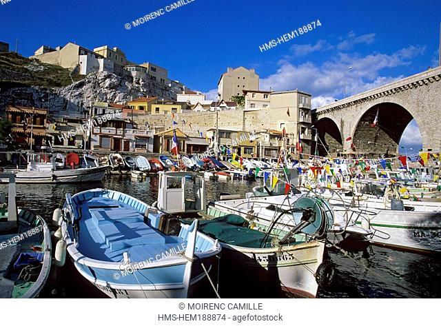 France, Bouches du Rhone, Marseille, Vallon des Auffes