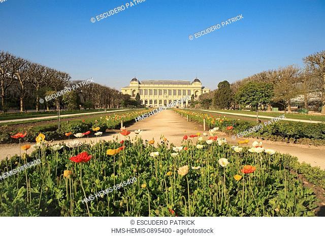 France, Paris, the Jardin des Plantes (Botanical Garden) in springtime