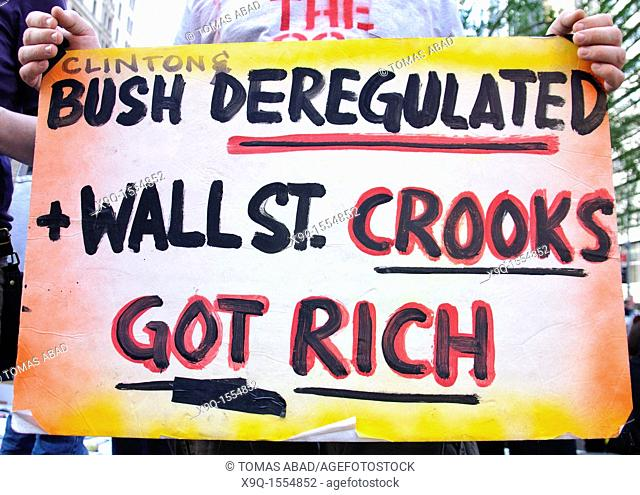 October 08, 2011, Occupy Wall Street, Downtown Manhattan, Wall Street financial area vicinity, Occupy Wall Street is an ongoing series of demonstrations in New...