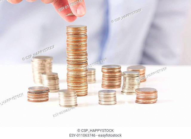 Coin heap scatter