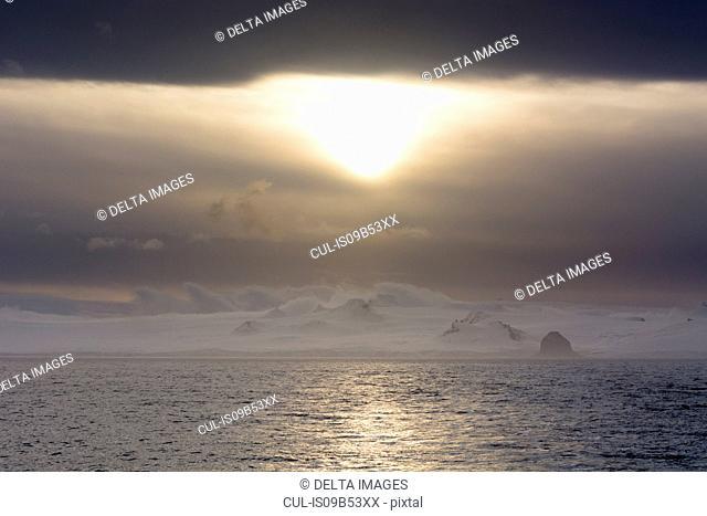 Sunset on Livingstone Island, English strait, Antarctica