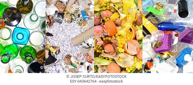 recycling glass, paper,organic and container (tin can and bottles plastic)