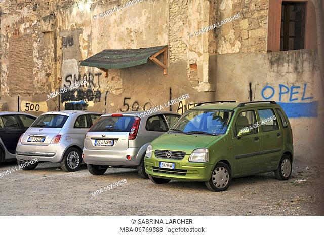 Parking lot in Cagliari, Europe, Italy, Sardinia