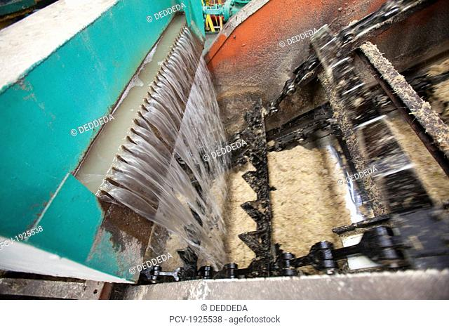 machinery and equipment process raw sugar and molasses from sugar cane, bais city, negros island, philippines