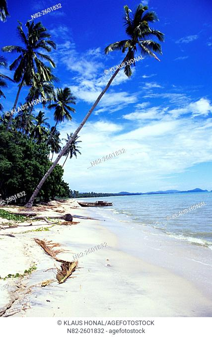 Natural beach and coconut palms - Langkawi/Malaysia