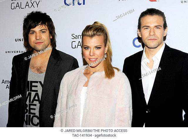 Recording artists Neil Perry, Kimberly Perry, and Reid Perry of music group The Band Perry attend the Universal Music Group 2015 Post GRAMMY Party at The Ace...