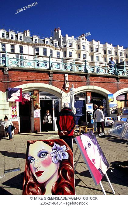 Art Shop, Brighton seafront, Sussex, England, UK