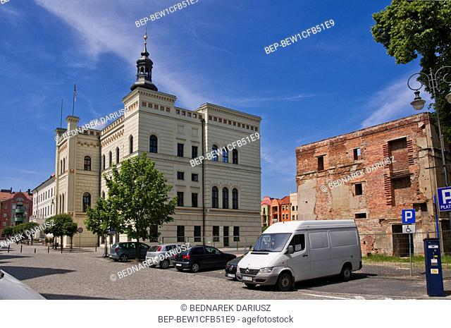 Town Hall in Glogow, town in Lower Silesian Voivodeship, Poland