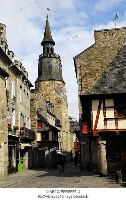 Clock tower Dinan Cotes d'Armor Brittany France Tour de L'Horloge
