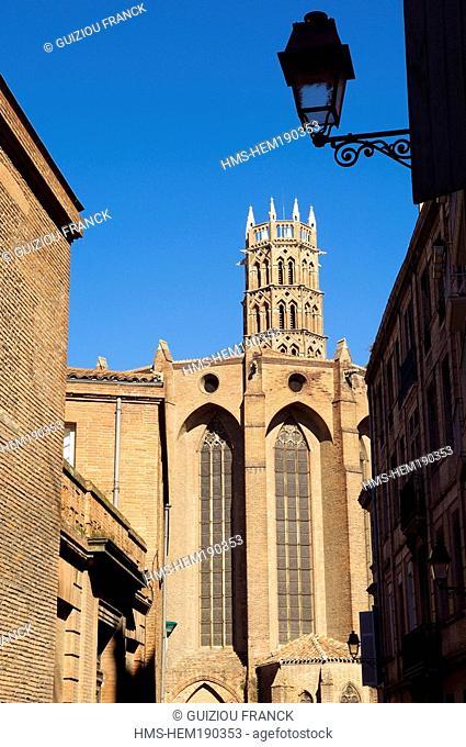 France, Haute Garonne, Toulouse, Couvent des Jacobins Jacobin convent, church bell tower