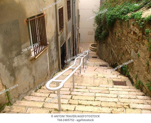 Costa del Jan street in old town, Lleida, Spain