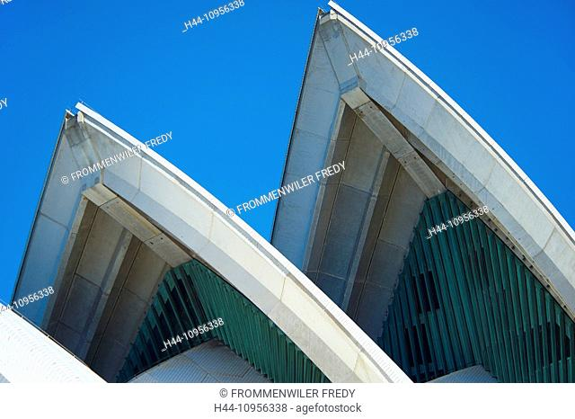 Australia, New South Wales, opuses House, Sydney, detail, opera-house, architecture