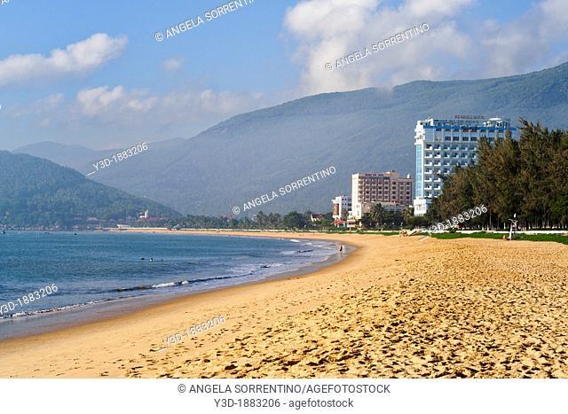 Qui Nhon, Dong Thap, view of modern hotels on the beach, Vietnam