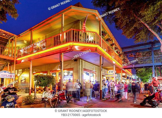 Old Town Kissimmee At Night, Florida, USA