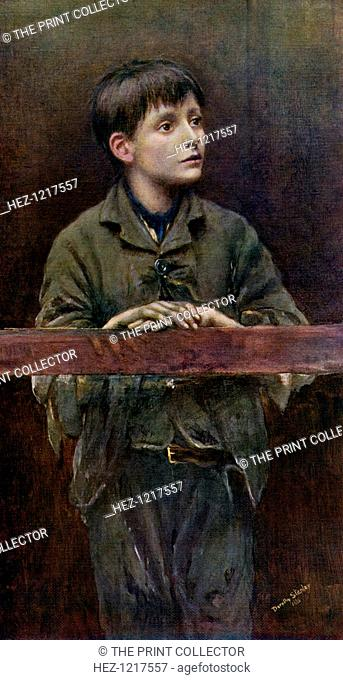 'His First Offence', 1896, (1912). A colour print from Famous Paintings, with an introduction by Gilbert Chesterton, Cassell and Company, (London, New York