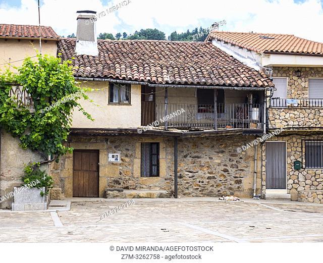 Arquitectura tradicional. Villanueva del Conde. Sierra de Francia. Salamanca. Castilla León. España