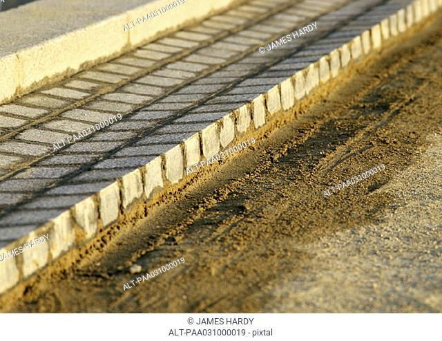 Freshly laid paving stones