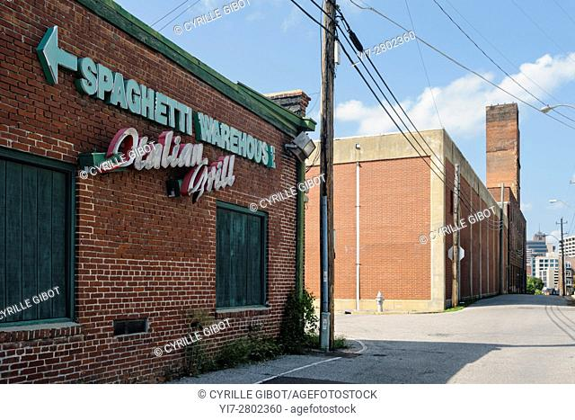 USA, Tennessee, Memphis, former industrial buildings