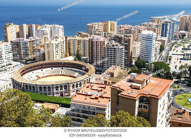 Plaza de Toros de Ronda bullring in Malaga, Spain. La Malagueta is the bullring Malaga, Spain