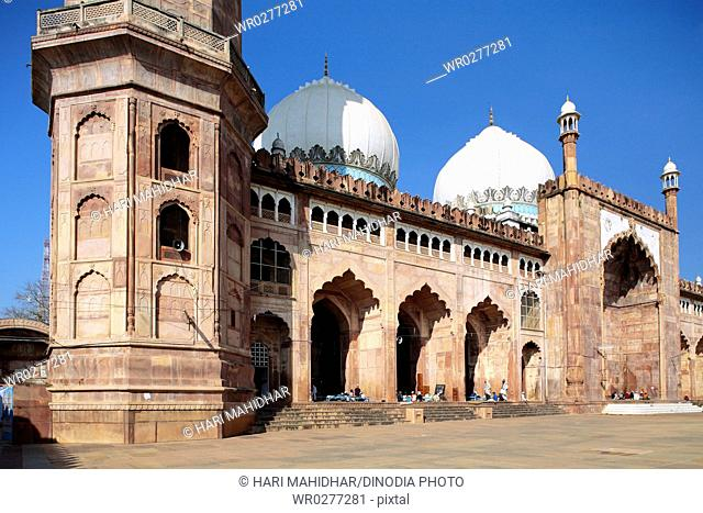 Taj-ul masjid built in 1868 by Shah Jahan begum , Bhopal , Madhya Pradesh , India