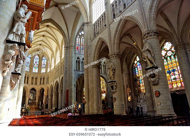 The St. Michael and St. Gudula Cathedral is a Roman Catholic church at the Treurenberg Hill in Brussels, Belgium