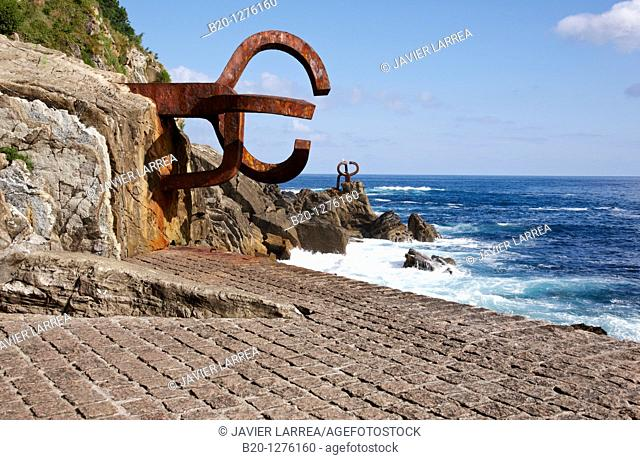 Peine del Viento, Obra de Eduardo Chillida, Donostia, San Sebastian, Gipuzkoa, Euskadi, Spain